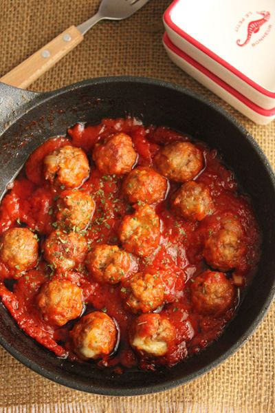 お弁当にも♪こども大好き!チーズinミートボールの甘口トマト煮 : ビジュアル系フード