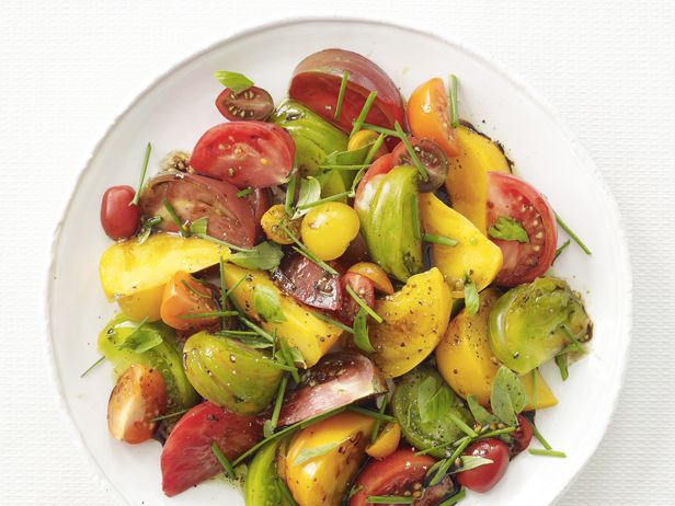 ... tomatoes drizzled with a balsamic reduction and topped with fresh