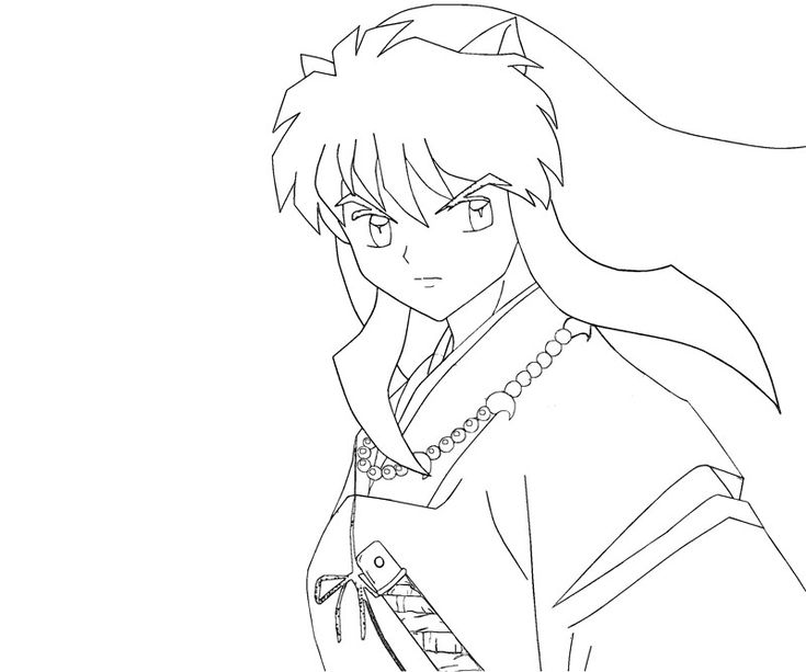 best inuyasha coloring pages images on pinterest