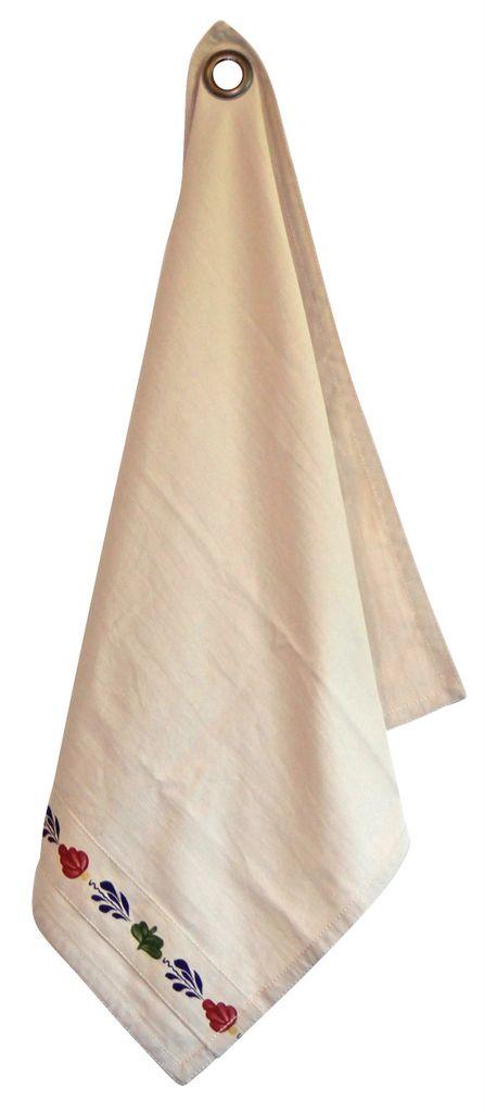 Theedoek Ecru 60x60 CM van het Boerenbont servies. Dit product is gemaakt van 100% katoen met het originele, oud Hollandse Boerenbont patroon.