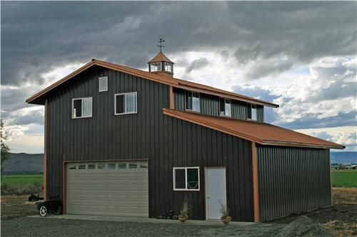 2 Story Steel Building with Shed - shop house