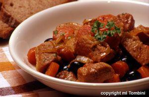 Photo de la recette : Veau aux olives et aux carottes