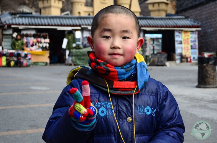 The Chinese child at the Great Wall entrance   #china #beijing #photography #portrait #travel