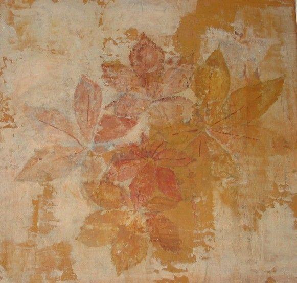 Mur travaillé à l'ancienne (enduit, plâtre, pigments..)