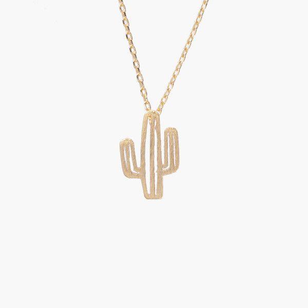Cactus Gold Necklace