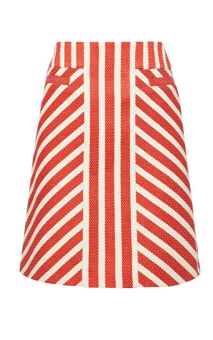 Твидовая юбка в полоску Karen Millen. Цвет , купить за 7999р в официальном интернет магазине karenmillen.ru с доставкой по России