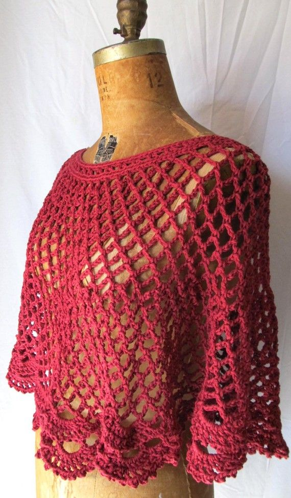 Crochet capelet - I'm feeling the summer knits today  I'd like to add short sleeves to this.