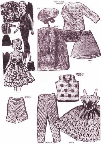 Vintage Knitting Patterns Dolls Clothes : 17 Best images about Single - Dolls, Clothes Knitting ...