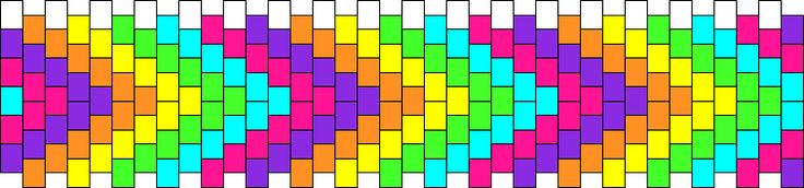 Rainbow Chevrons Kandi Pattern