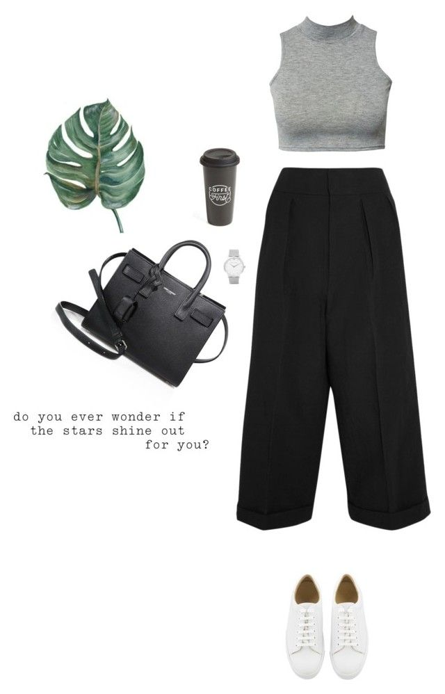 """classy"" by djulia-tarasova ❤ liked on Polyvore featuring Yves Saint Laurent, Club L, Marni, The Created Co. and Larsson & Jennings"