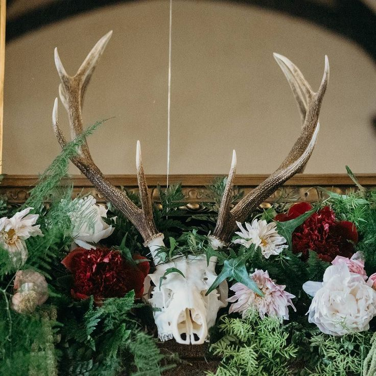 Exciting morning ahead as I'm off to pick out dresses for my first styled shoot next month at the lovely @teamobrides in Plymouth. It will also be the first time since the wedding for a catch up with our amazing photographer @clarekinchinphotography who took this wonderful shot of the gorgeous floral display by @bromptonbuds at the wedding. Jura antlers hired from @virginiasvintagehire.