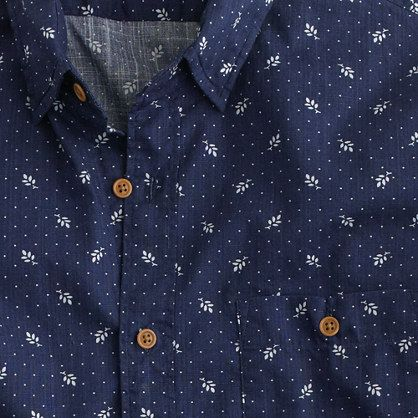 Jcrew floral print long sleeve mens shirt