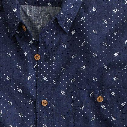 Jcrew floral print long sleeve mens shirt