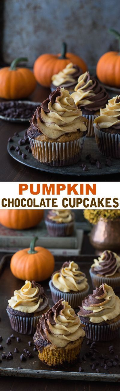 You won't believe how easy these Pumpkin Chocolate Cupcakes are to make.  Great for a Fall Party.