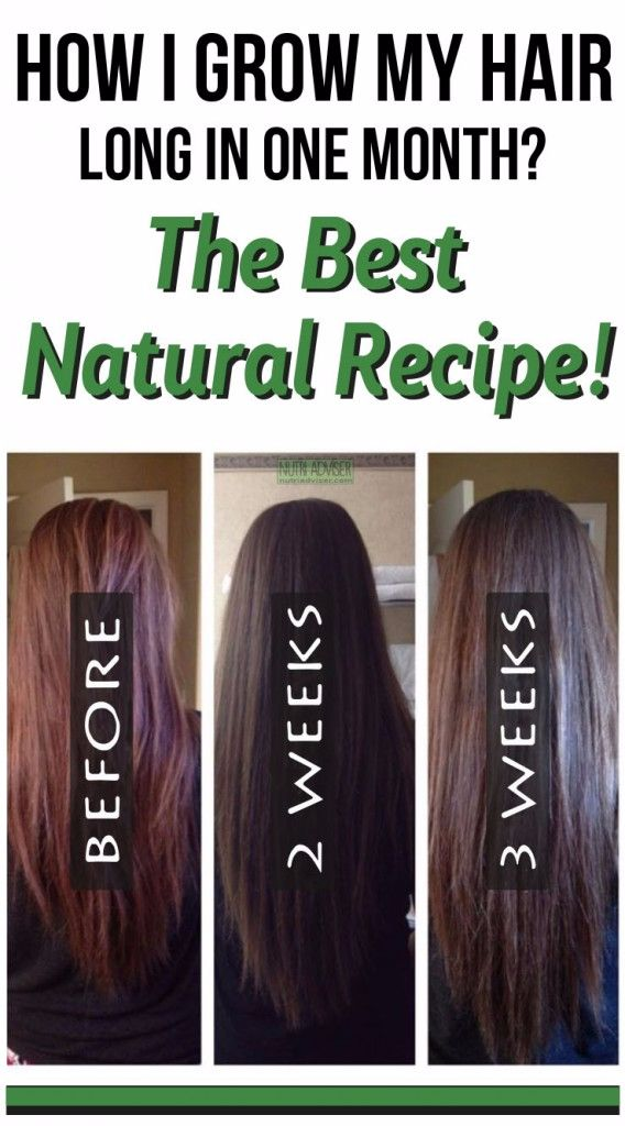 How I Grow My Hair Long In One Month? The Best Natural Recipe! - BEAUTIFUL DIY AND HEALTH#hair