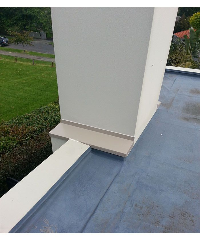 Flashed Chimney on Flat Auckland Roof
