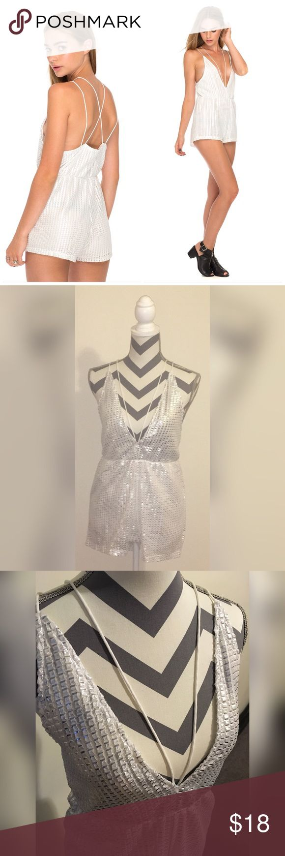 Motel Rocks Metallic Playsuit Summer is approaching ! Add this trendy piece to your wardrobe. Ibla metallic playsuit is cut low with cross straps in the back. Motel Rocks Other