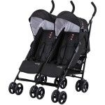 Knorr Baby Side by Side Double Twin Pram Stroller black - Collection 2015