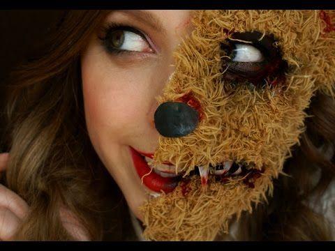 Halloween: Děsivý Plyšový Medvídek Makeup Tutorial - YouTube