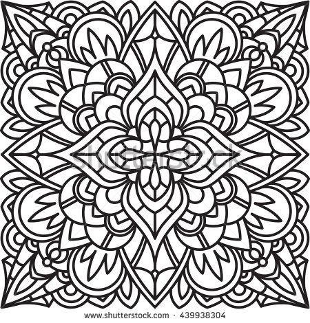 square mandala coloring pages - photo#34