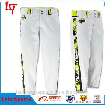 Custom sublimation baseball uniform wholesale softball pants Mens softball pants plus size baseball pants