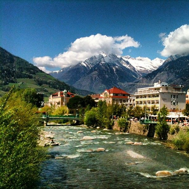 #Merano - best know for its #Spa resorts and mild climate at the entrance of the Passeier Valley and Vinschgau