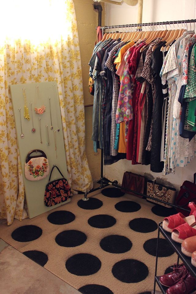 Turn a boring basement into a closet.