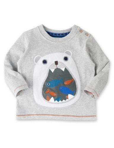 Pure Cotton Polar Bear T-Shirt-Marks & Spencer