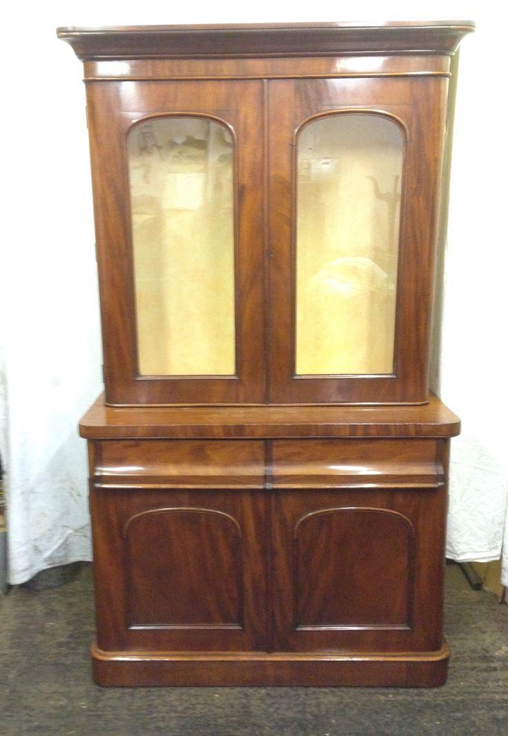 Antique mahogany chiffonier bookcase