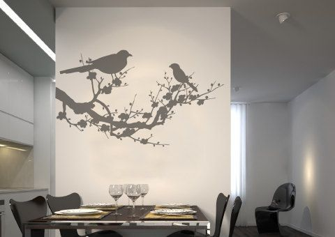 Bird wall decal Birds wall sticker birds wall decal by sohome99, $34.00-------------------- Aqua paint in the background?