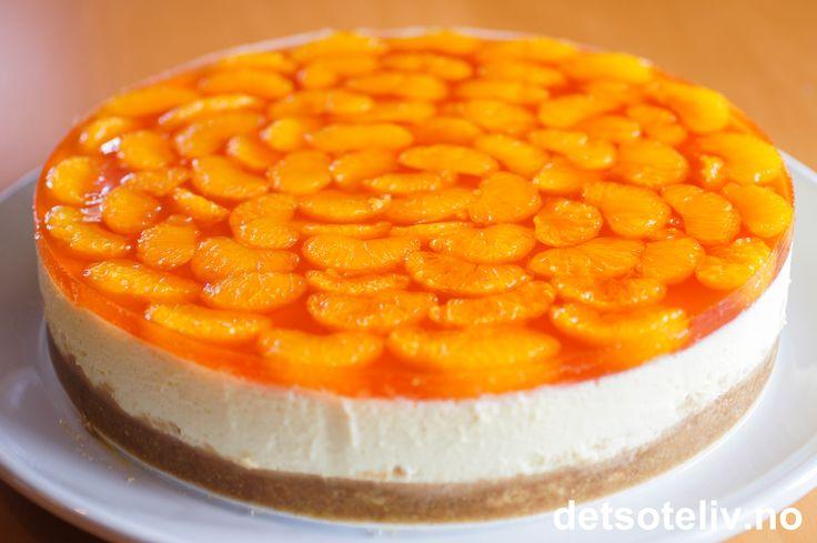 Ostekake med mandarin