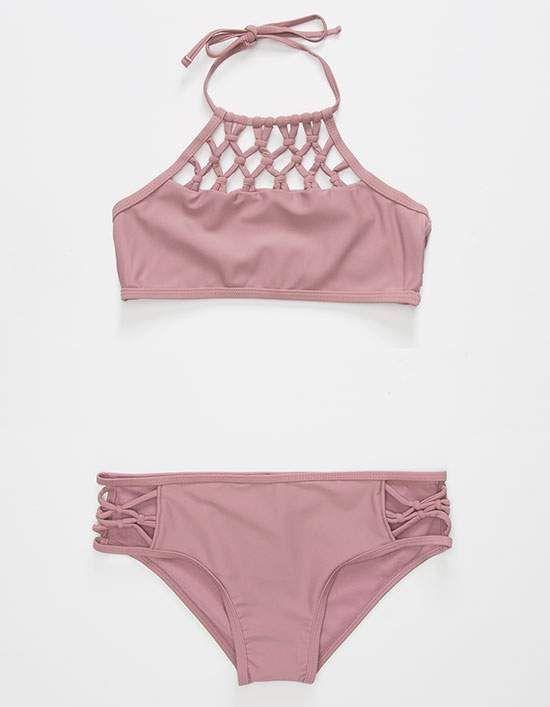 DAMSEL High Neck Mädchen Bikini Set # badeanzüge   – Mädels