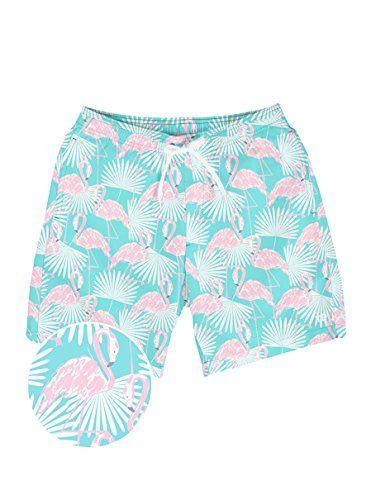 93ff06009d Men's Short Swim Trunks - Bright Neon Board Shorts for Vacation ...