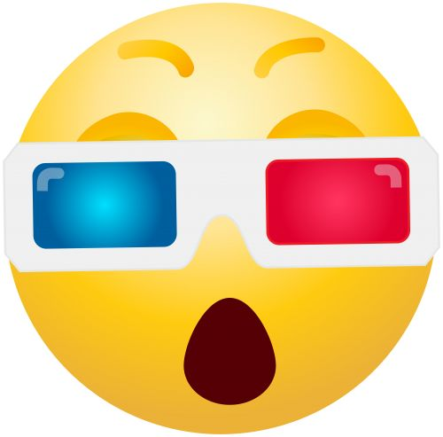 3D Glasses Emoticon PNG Clip Art