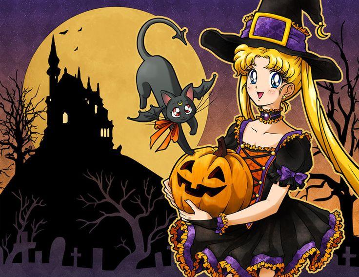 Sailor Moon says: Happy Halloween by Keah.deviantart.com on @deviantART