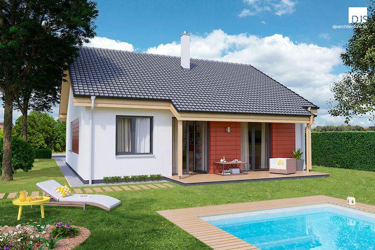 Rodinný dom O80 so sedlovou strechou a krytou terasou - 80m2. / Family house O80.