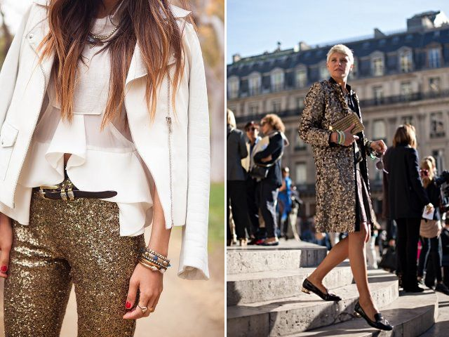 Sometimes Sequins - who doesn't need sequin pants and a sequin overcoat?
