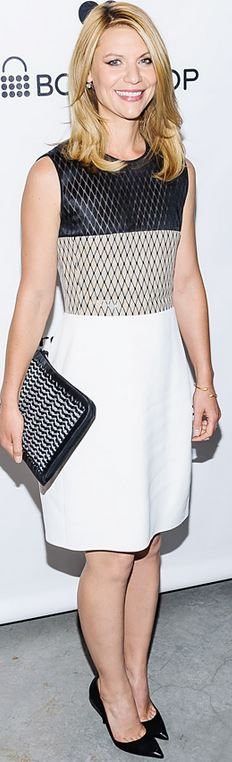 Who made Claire Danes' white ombre dress? Dress – Narciso Rodriguez