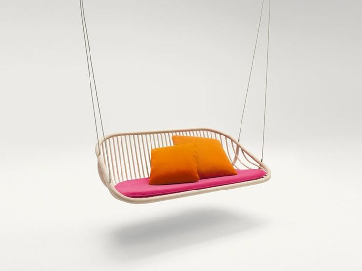 Download the catalogue and request prices of Swing by Paola Lenti, wooden garden swing seat