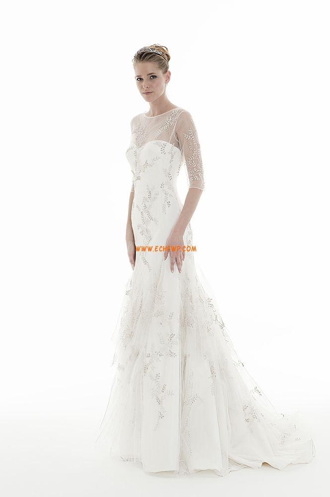 Salle intérieure Balayage / pinceau train Zip Robes de mariée pas cher