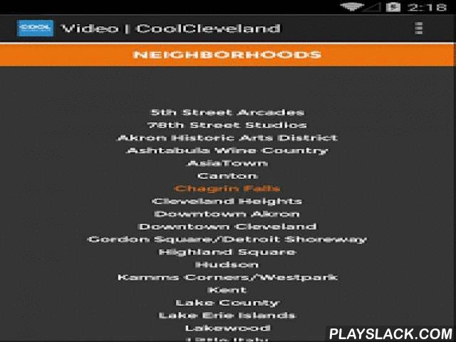 Cool Cleveland  Android App - playslack.com , JUST THE COOL STUFFOther apps use automated software that never gets it quite right. Their writers are thousands of miles away, aggregating secondhand news from other sites, producing listings that are often out-­‐of-­‐date and inaccurate. CoolCleveland's correspondents and editors keep tabs on people making things happen in the region and draw on their own extensive knowledge of the area to create all-­‐original content. We stay on top of what…
