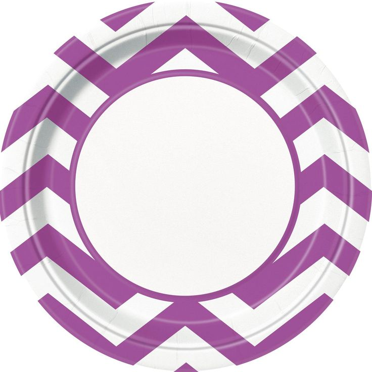 Awesome Party Supplies Pretty Purple Chevron Dinner Plates (8) just added...