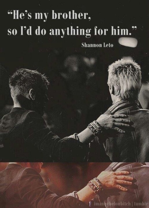 """""""He's my brother, soI'd do anything for him."""" - Shannon Leto on """"Brotherly Love"""""""