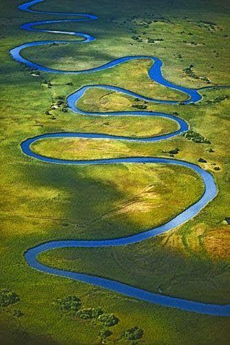 Okvango river meander - Botswana.