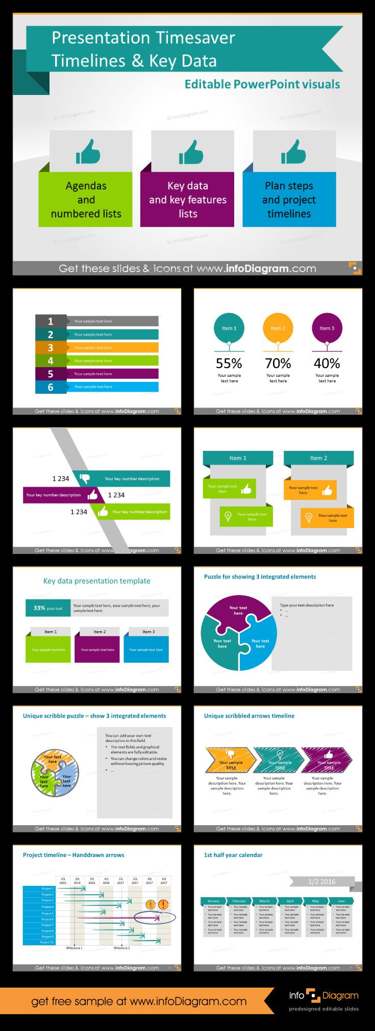 45 best business powerpoint templates images on pinterest business presentation timesaver timelines key data ppt diagrams toneelgroepblik Image collections