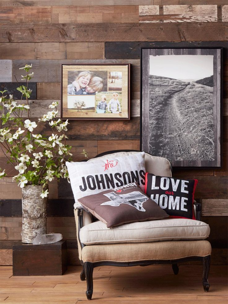 Bring the outdoors in with home decor inspiration that features custom accents and wood wall art