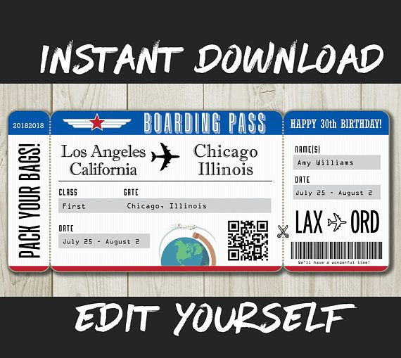 image about Free Printable Pretend Disney Tickets identified as Do it yourself Printable Editable Boarding P Wonder Untrue Airline