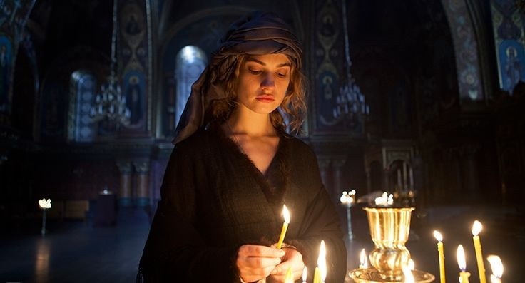 """Lily James in """"War & Peace"""""""