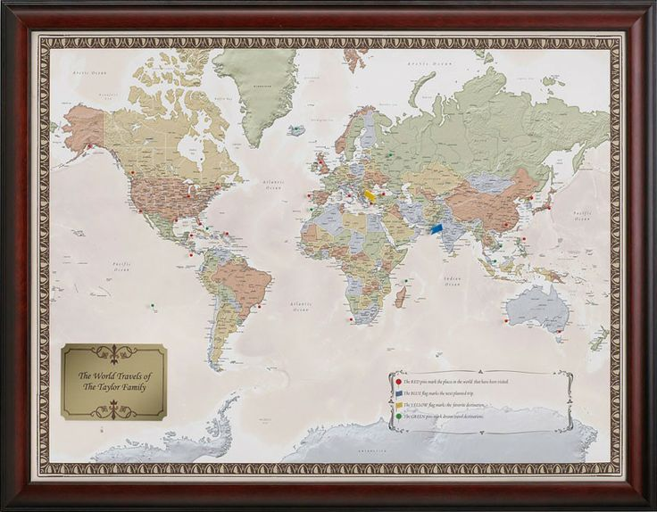 The Original Personalized World Travel Map Set – World Travelers Map