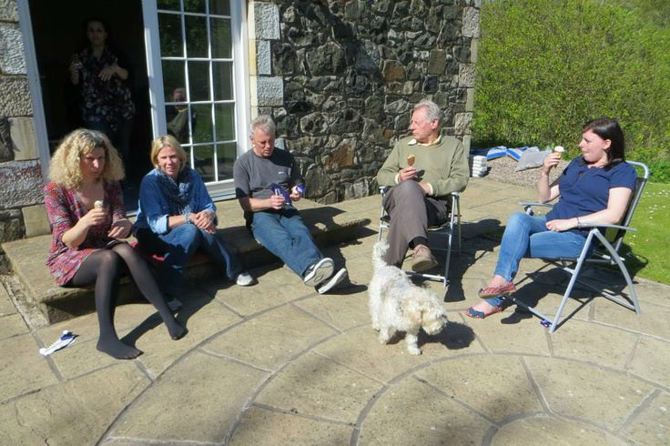 A beautiful sunny day on the Master Practitioner course - with Dodger the Dog, and various magical humans! (2013)